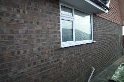 Brick work restored after wall tie replacement